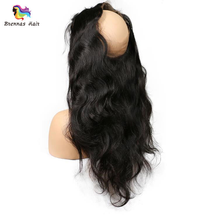 Brazilian Body Wave 360 Degree Lace Closure Natural Color Virgin Hair Closure 100