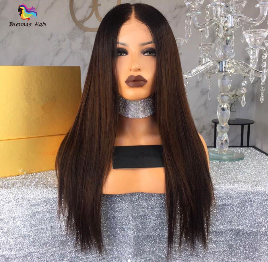 Luxury Straight Lace Front Wig For Black Women With Baby