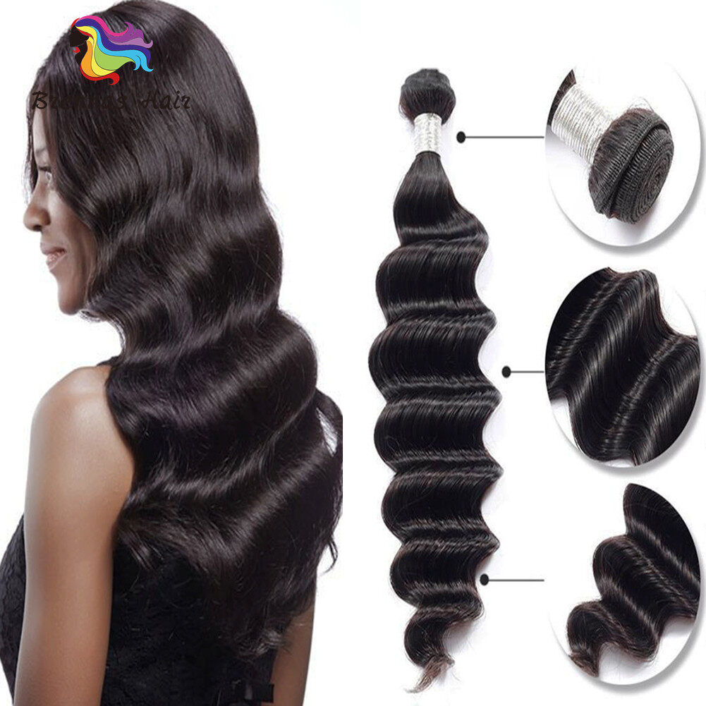Loose Wave Hair Bundles 3 Pcs For Full Head 8 26inch Tangle Free
