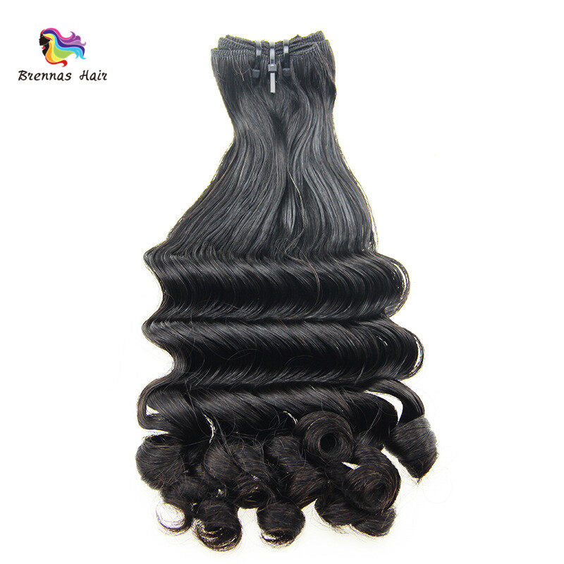 Unique Fummi hair weaves 8-26inch ban deep spring curly brazilian human hair bundles for black women natural color best quality 1