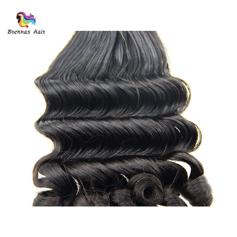 Unique Fummi hair weaves 8-26inch ban deep spring curly brazilian human hair bundles for black women natural color best quality 3