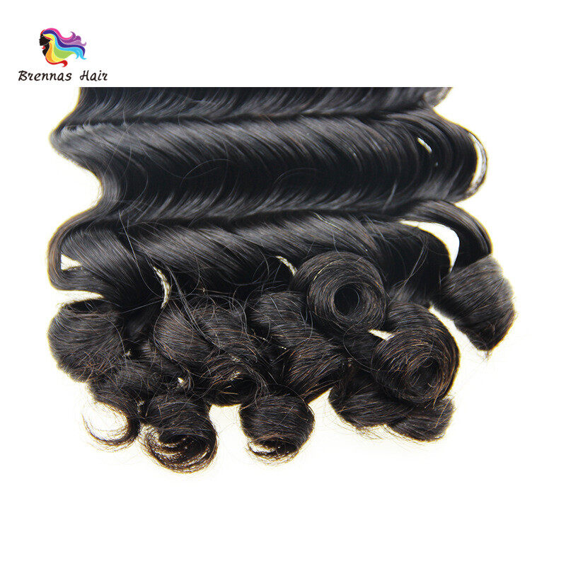 Unique Fummi hair weaves 8-26inch ban deep spring curly brazilian human hair bundles for black women natural color best quality 4