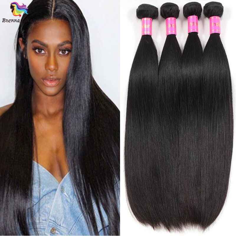 Brazilian Sliky Straight Hair Bundles 3pcs 8 26inch Natural Black