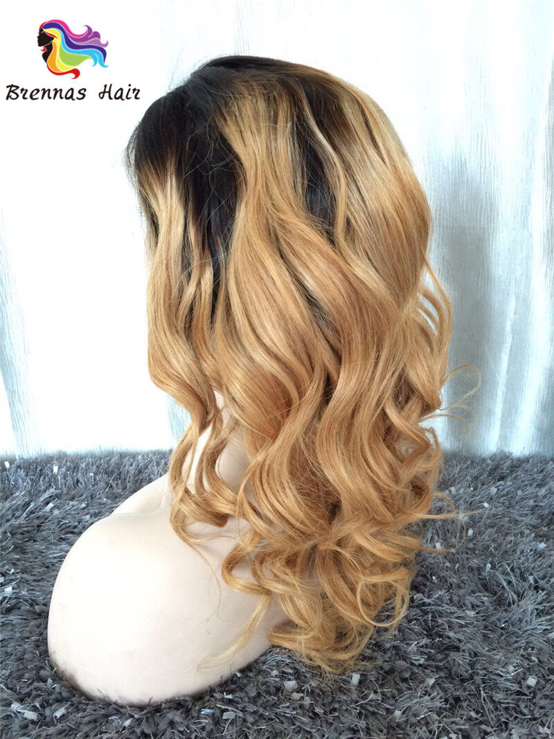 Beautiful Wavy Lace Front Wig Natural Color 150 Density