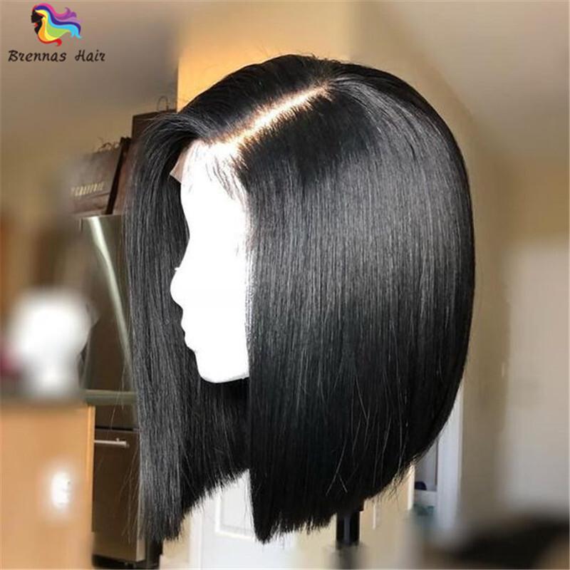 Brazilian Human Virgin Hair Silky Straight Bob Wig Lace