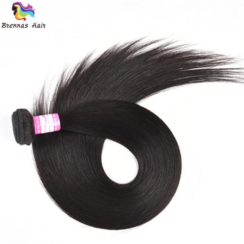 Sliky Straight human virgin Hair Bundles 8-30inch Natural black unprocessed Hair for black woman double drawn 3