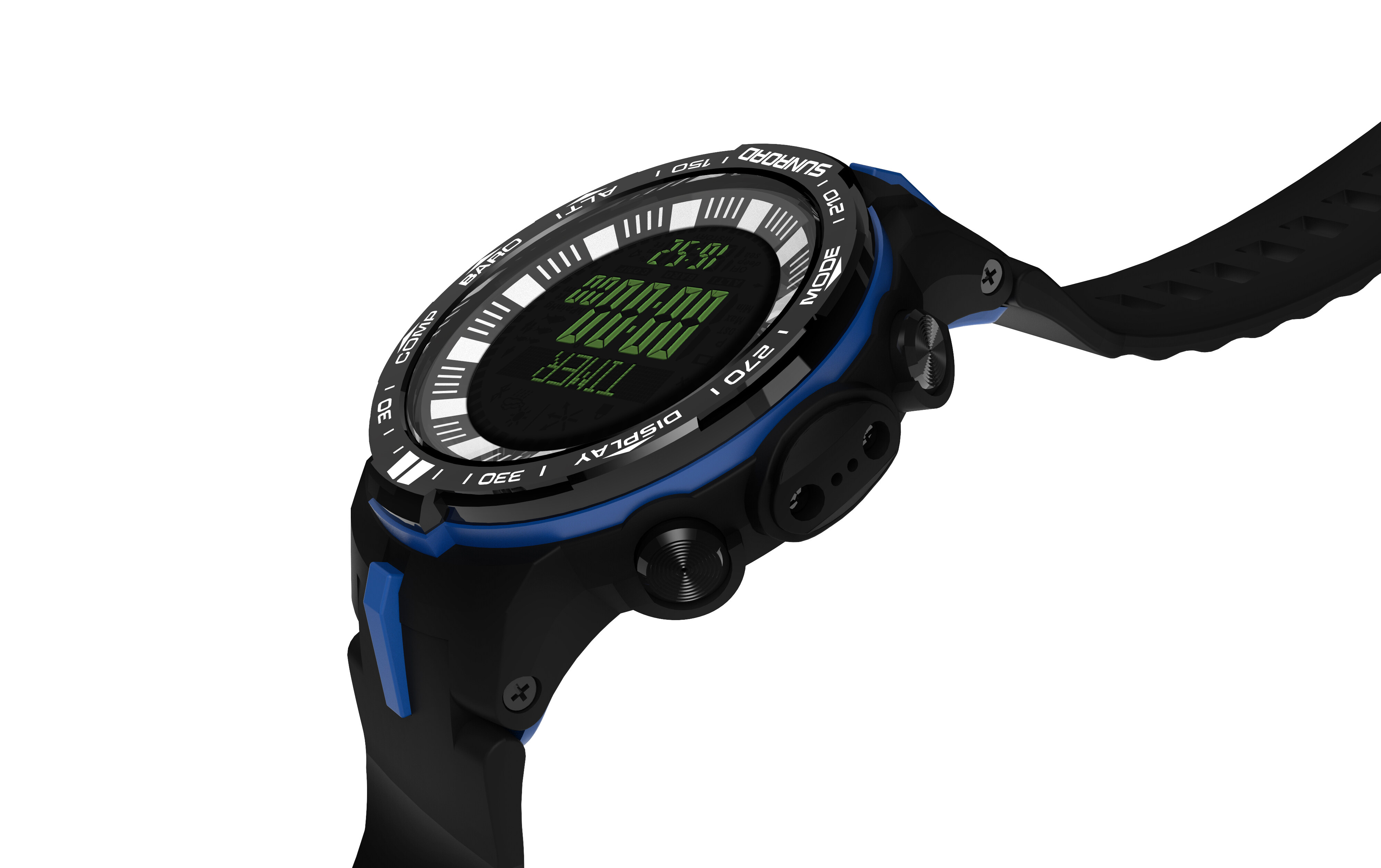 Fishing watch with powerful outdoor climb data analyse altitude barometer compass fishing index waterproof 9