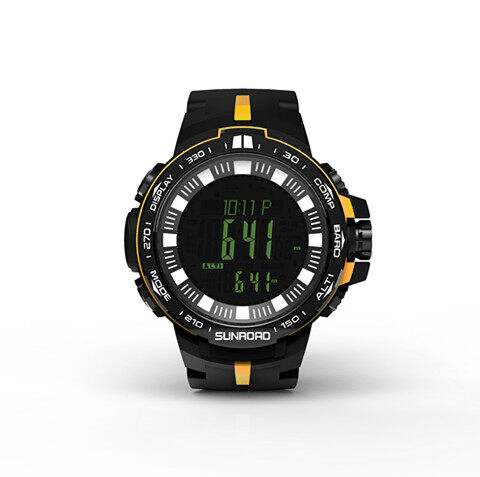 Fishing watch with powerful outdoor climb data analyse altitude barometer compass fishing index waterproof 3