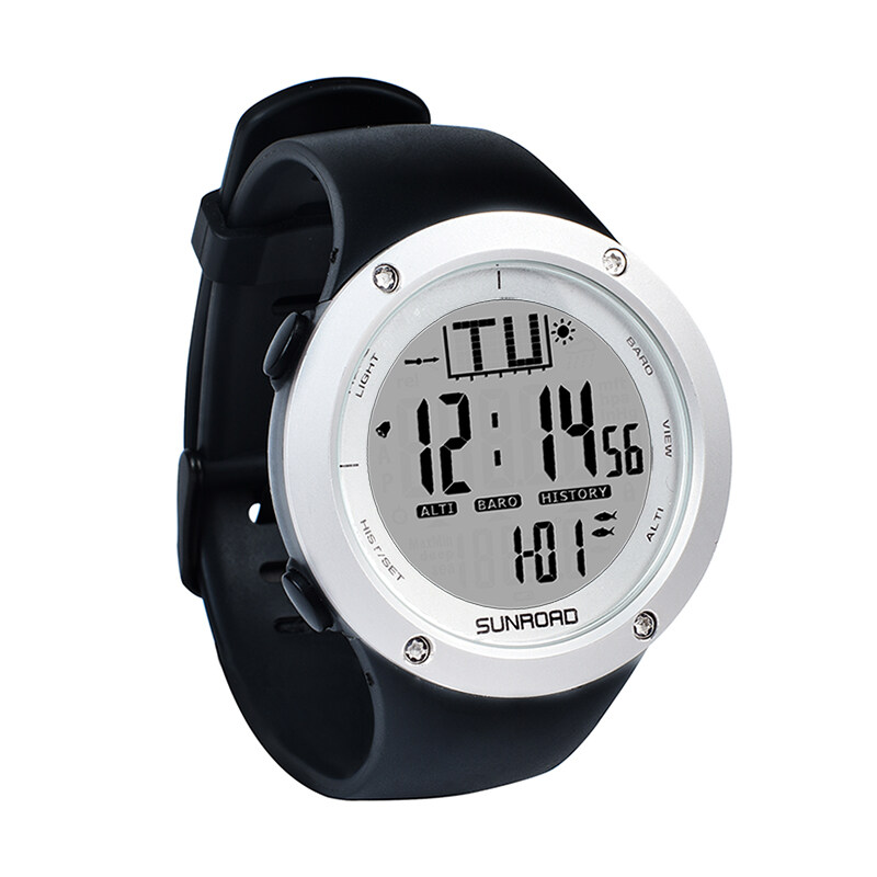 Fishing watch with barometer Outdoor Watch Sports watch Clock Weather forecast Altimeter Thermometer Wristwatch 0