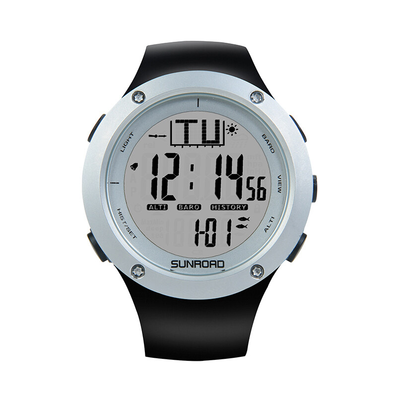 Fishing watch with barometer Outdoor Watch Sports watch Clock Weather forecast Altimeter Thermometer Wristwatch 1