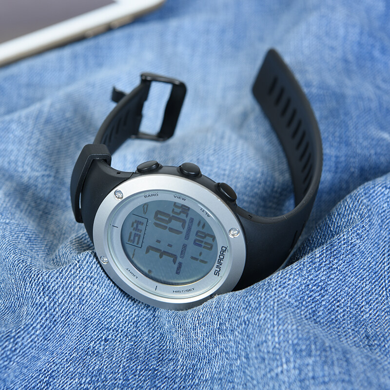 Fishing watch with barometer Outdoor Watch Sports watch Clock Weather forecast Altimeter Thermometer Wristwatch 3