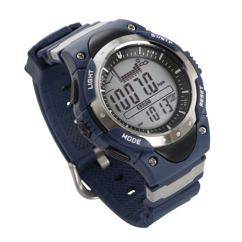 SUNROAD FR718 Fishing Barometer watch Men Sports Watch-Digital Altimeter Thermometer Weather Forecast LCD Display Men Watches  2