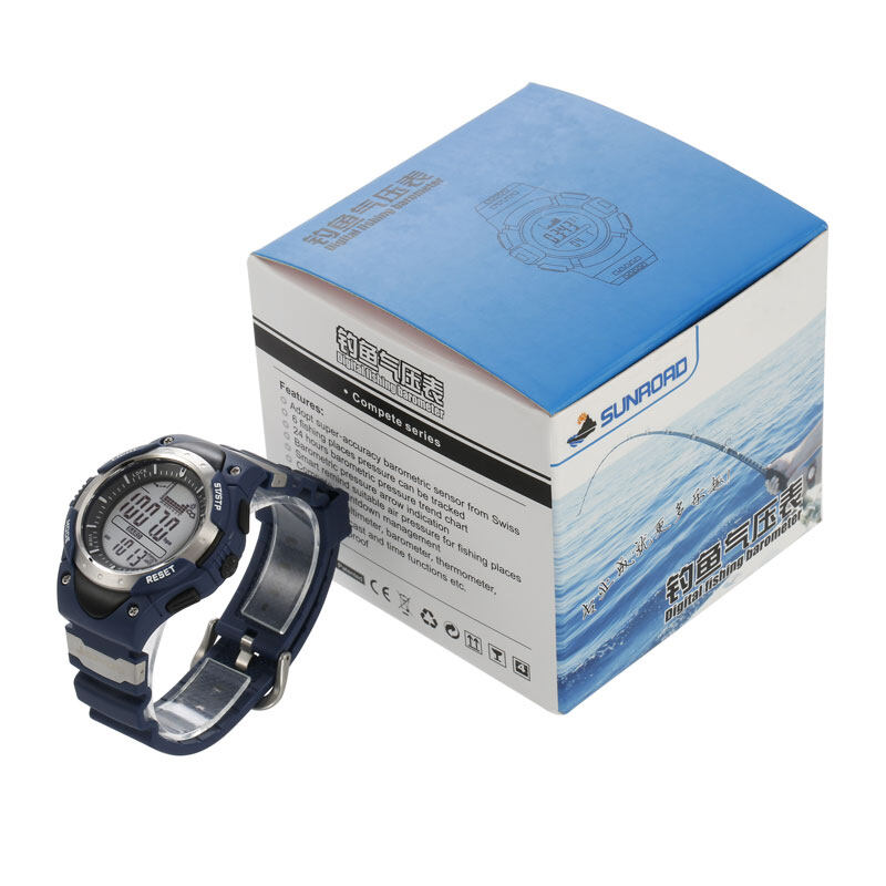 SUNROAD FR718 Fishing Barometer watch Men Sports Watch-Digital Altimeter Thermometer Weather Forecast LCD Display Men Watches  12