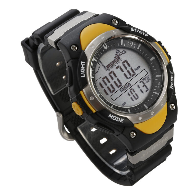 SUNROAD FR718 Fishing Barometer watch Men Sports Watch-Digital Altimeter Thermometer Weather Forecast LCD Display Men Watches  5