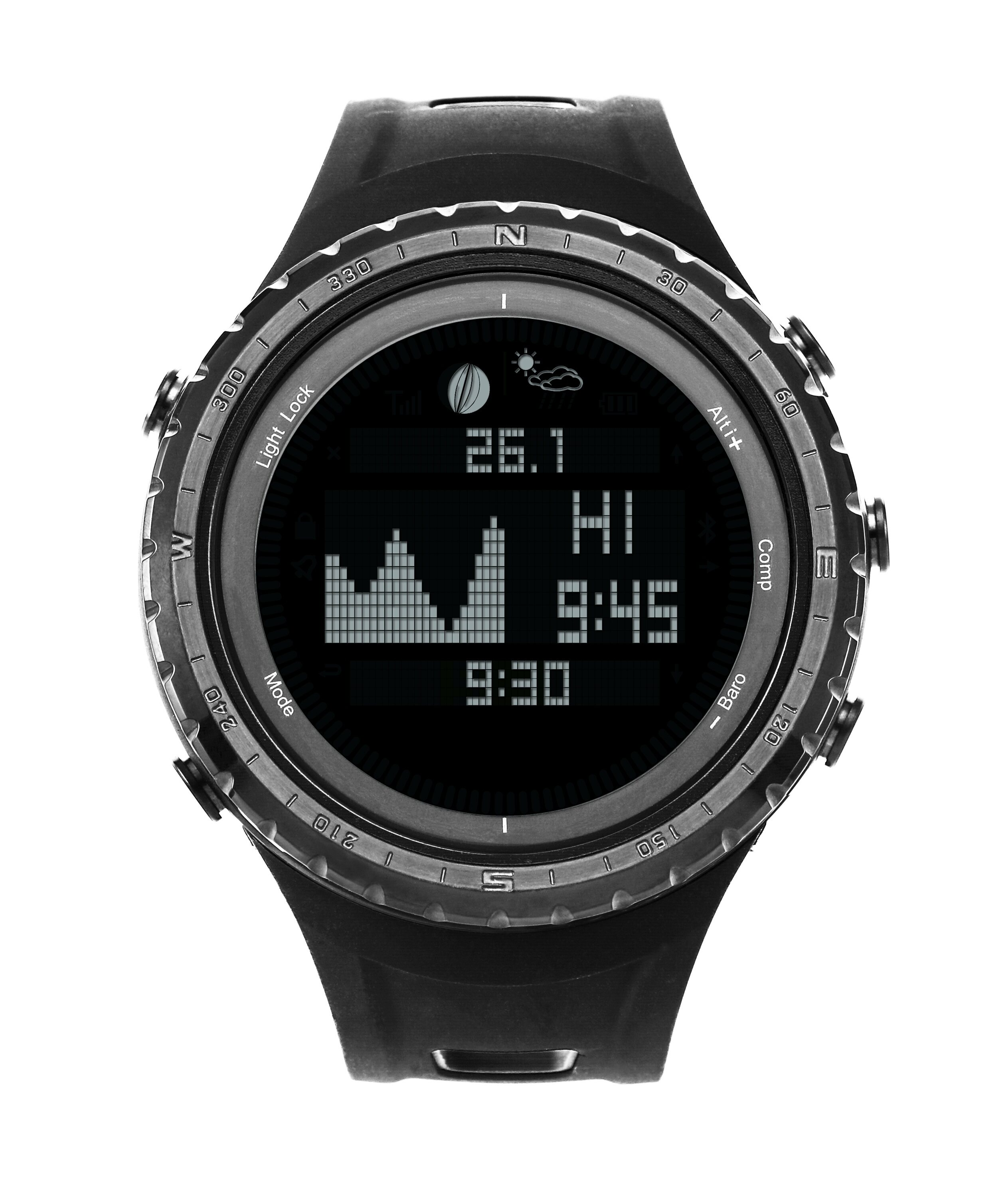 Tide watch for fishing surfing moon phase altimeter barometer thermometer waterproof backlight digital wrist watch 0