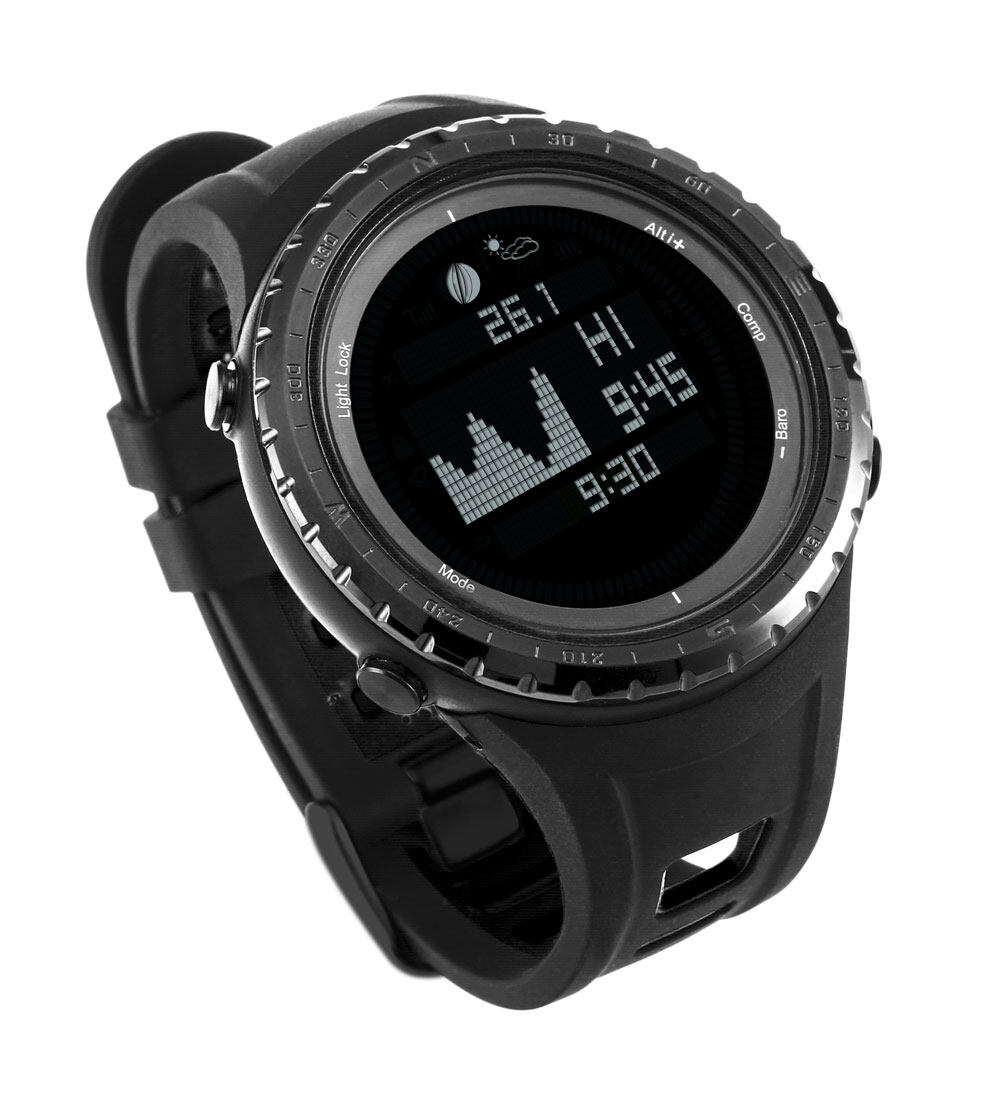 Tide watch for fishing surfing moon phase altimeter barometer thermometer waterproof backlight digital wrist watch 1
