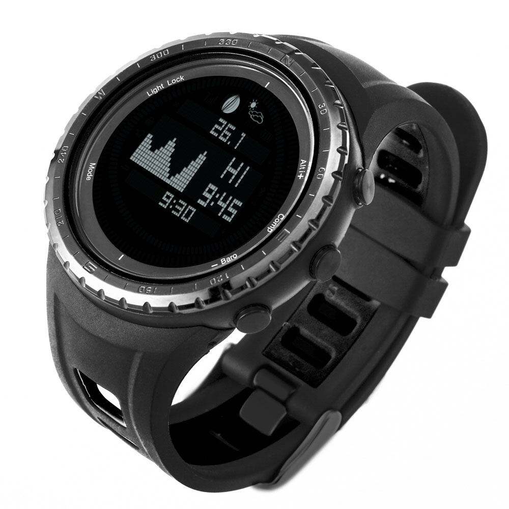 Tide watch for fishing surfing moon phase altimeter barometer thermometer waterproof backlight digital wrist watch 2