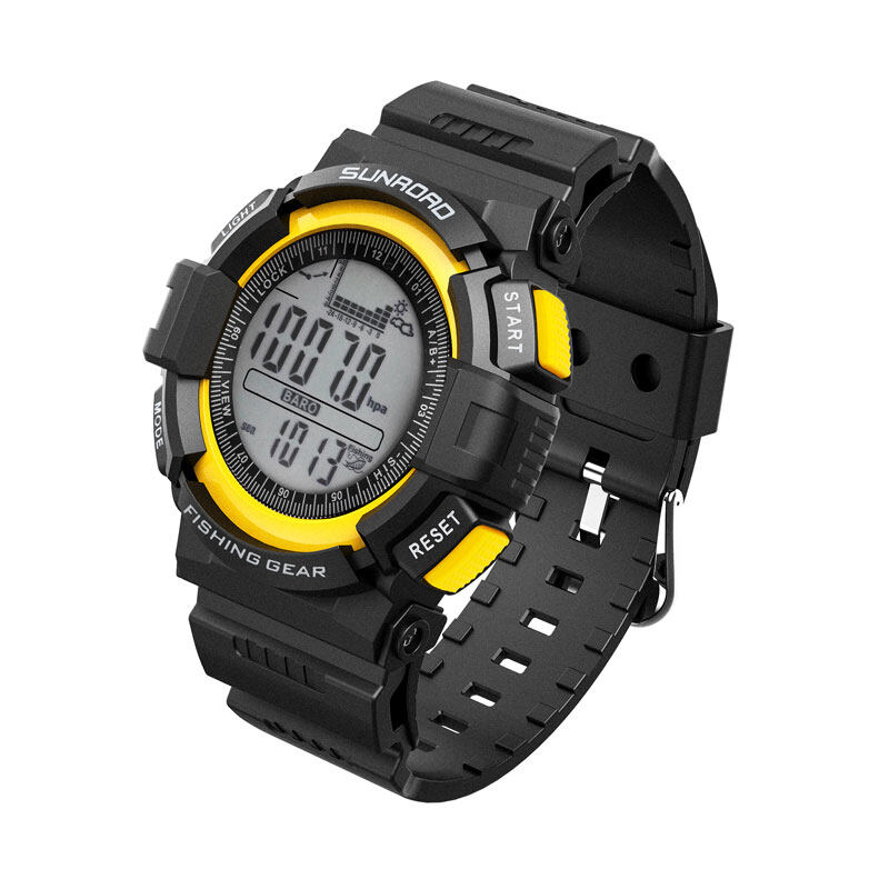 SUNROAD Fishing Barometer Watch FR712A -Digital Outdoor Sports Watch with Casting frequency management Altimeter Countdown 7