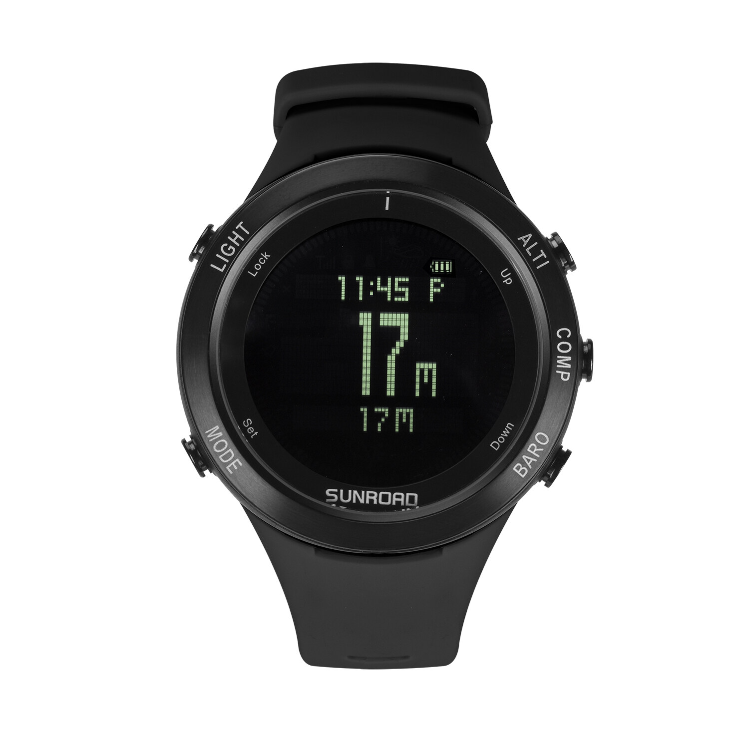 Sunroad heart rate outdoor sports watch with Pedometer, altimeter, climb data, hiking, camping, traveling watch waterproof 5
