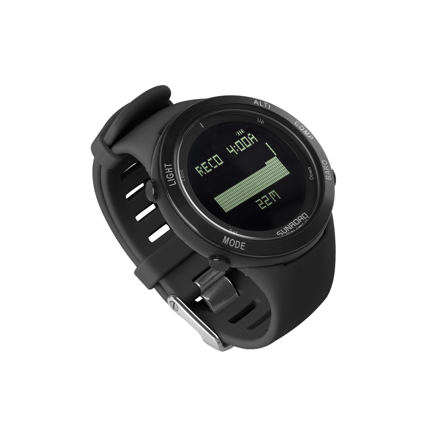 Sunroad heart rate outdoor sports watch with Pedometer, altimeter, climb data, hiking, camping, traveling watch waterproof 6