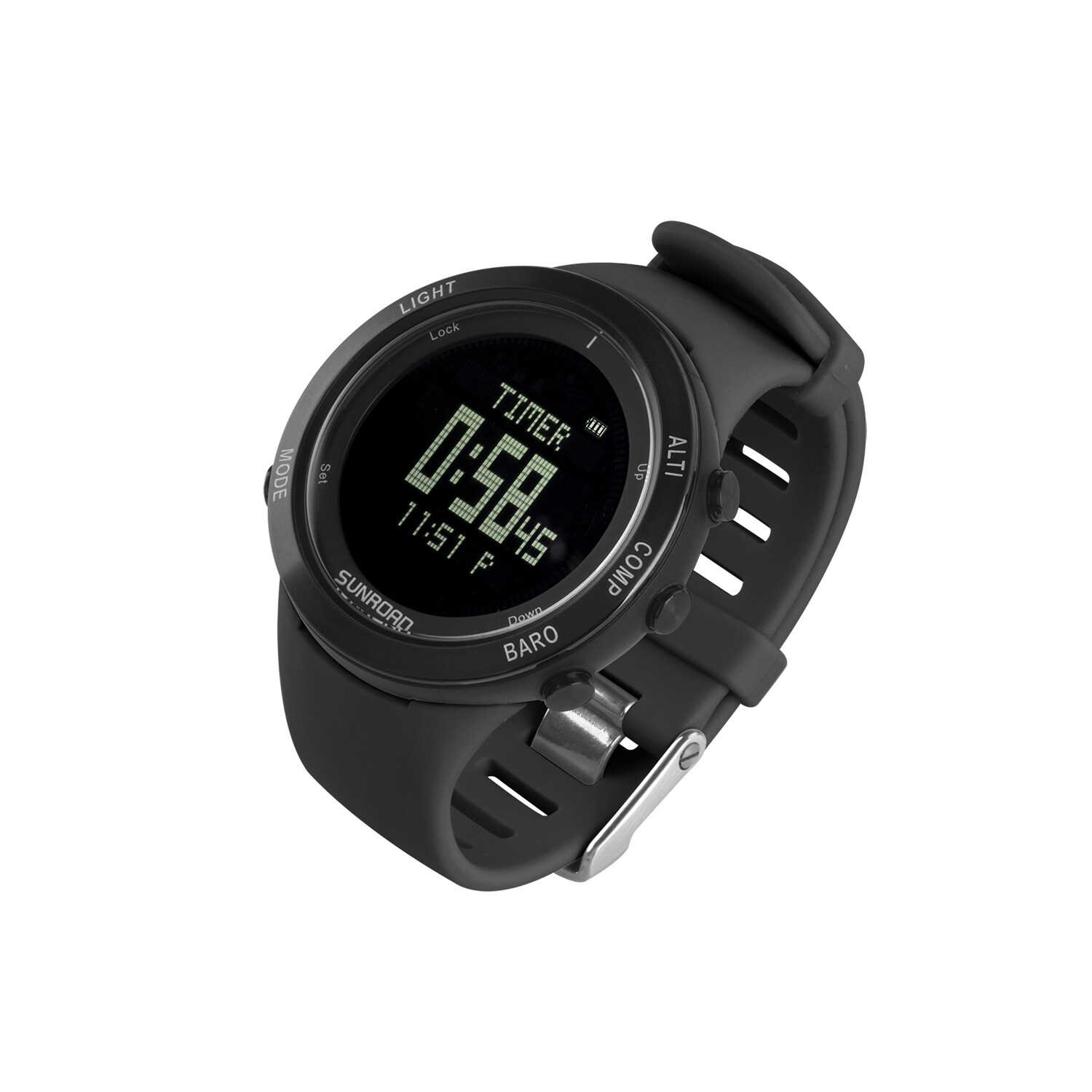 Sunroad heart rate outdoor sports watch with Pedometer, altimeter, climb data, hiking, camping, traveling watch waterproof 7