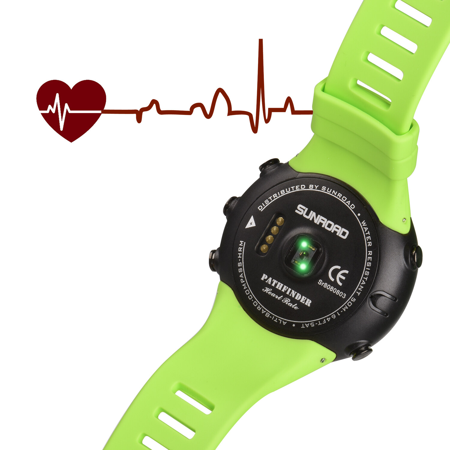 Sunroad heart rate outdoor sports watch with Pedometer, altimeter, climb data, hiking, camping, traveling watch waterproof 3