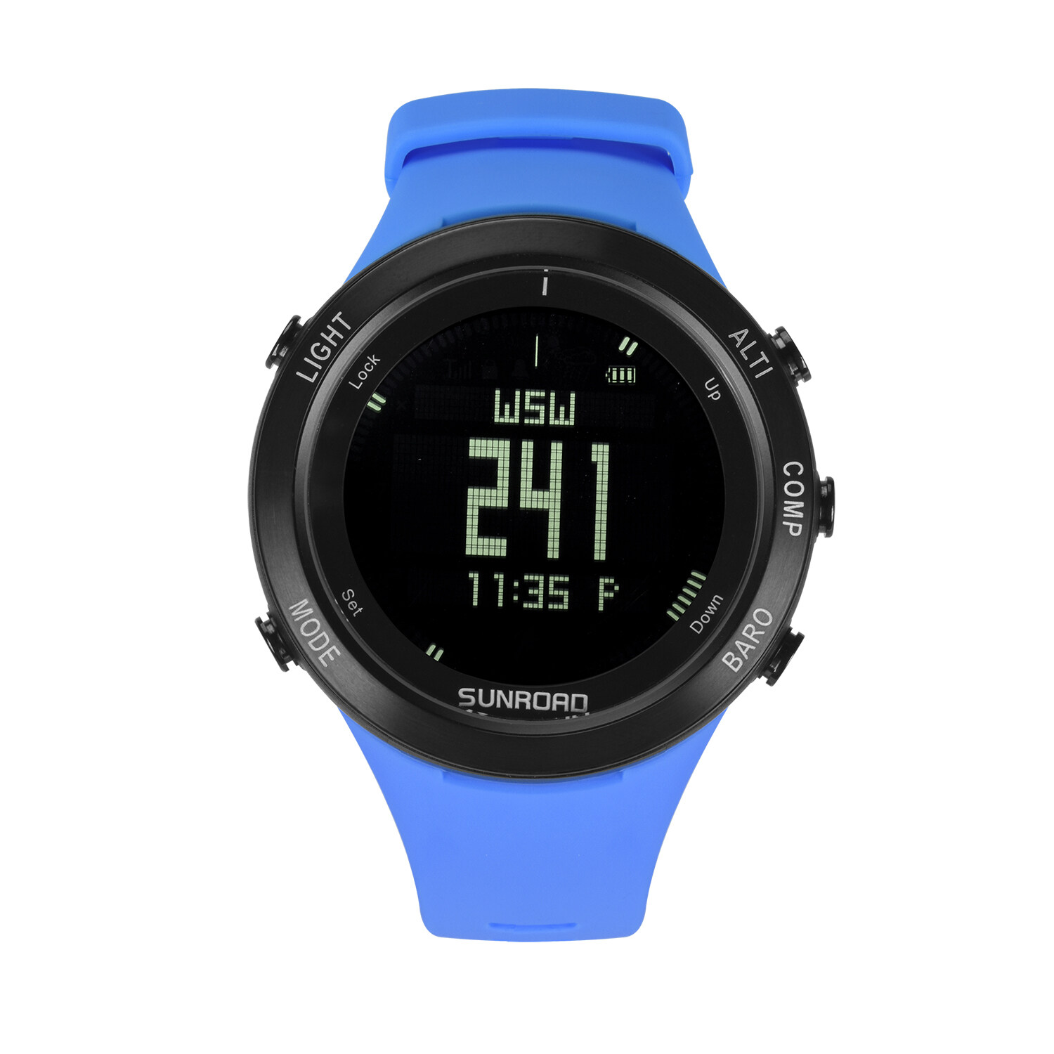 Sunroad heart rate outdoor sports watch with Pedometer, altimeter, climb data, hiking, camping, traveling watch waterproof 8