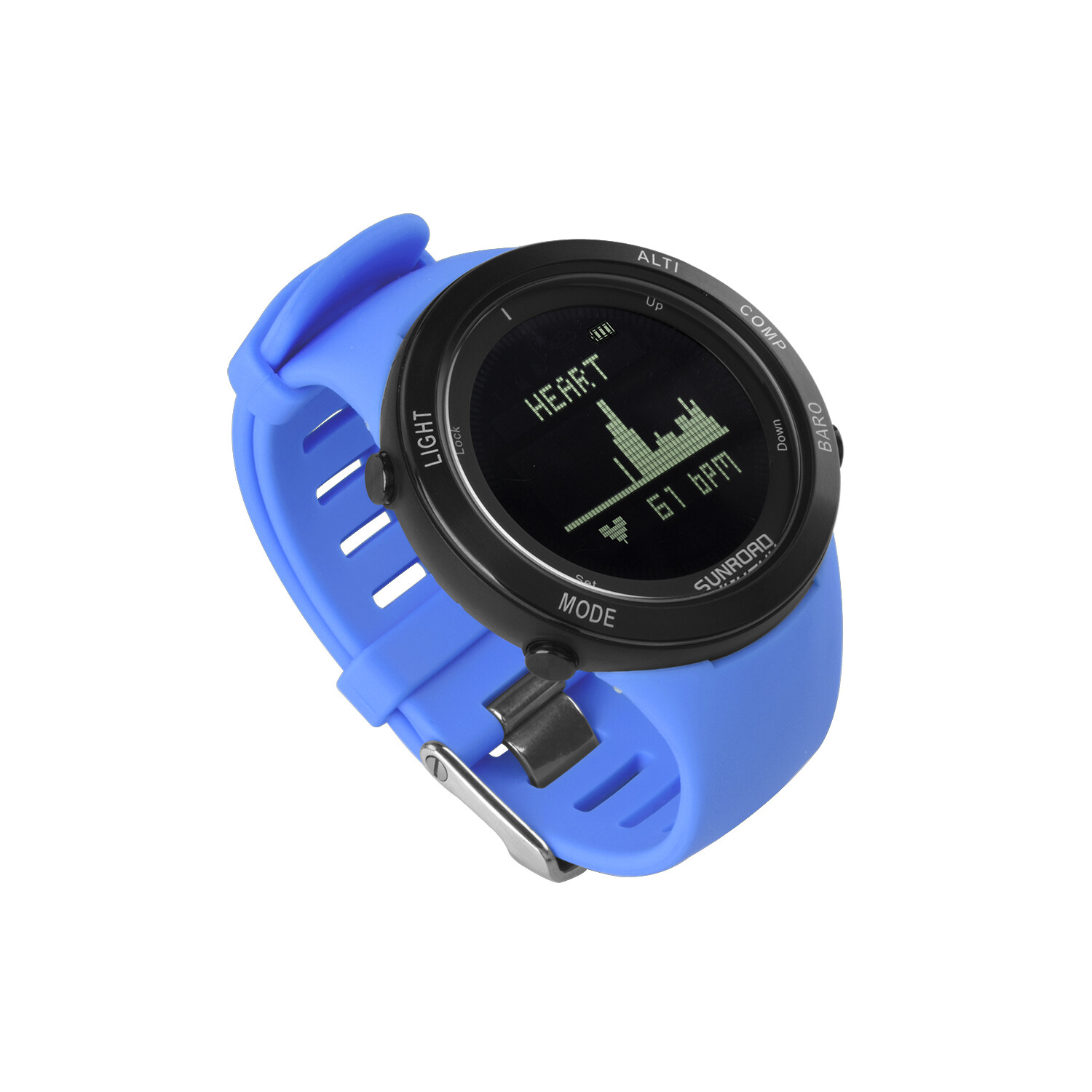 Sunroad heart rate outdoor sports watch with Pedometer, altimeter, climb data, hiking, camping, traveling watch waterproof 9