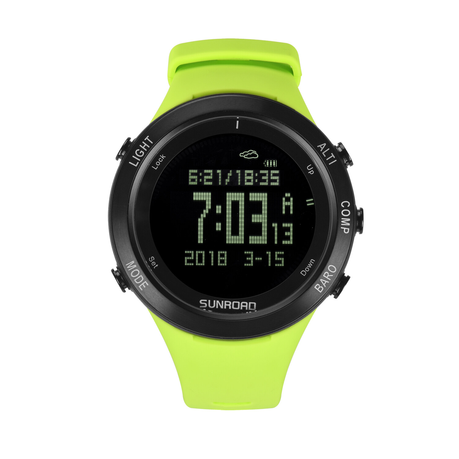 Sunroad heart rate outdoor sports watch with Pedometer, altimeter, climb data, hiking, camping, traveling watch waterproof 1