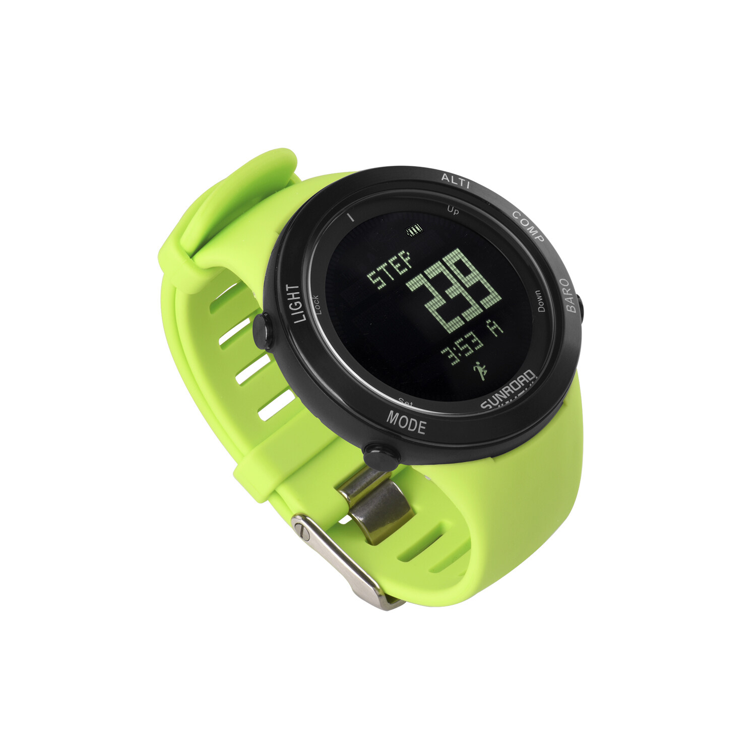 Sunroad heart rate outdoor sports watch with Pedometer, altimeter, climb data, hiking, camping, traveling watch waterproof 2