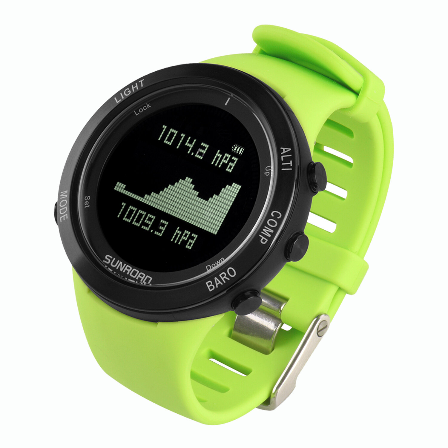 Sunroad heart rate outdoor sports watch with Pedometer, altimeter, climb data, hiking, camping, traveling watch waterproof 0