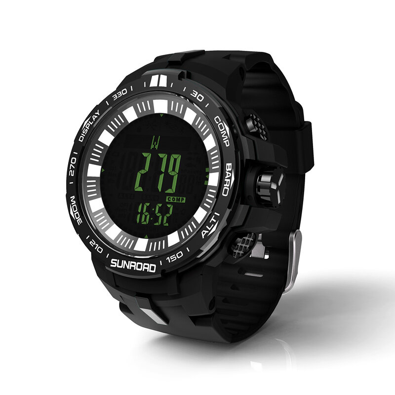 Fishing watch with powerful outdoor climb data analyse altitude barometer compass fishing index waterproof 1