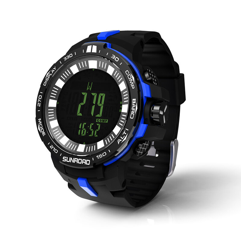 Fishing watch with powerful outdoor climb data analyse altitude barometer compass fishing index waterproof 2