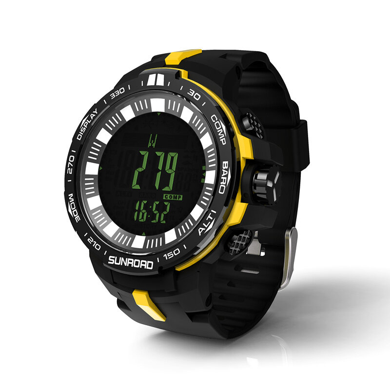 Fishing watch with powerful outdoor climb data analyse altitude barometer compass fishing index waterproof 0