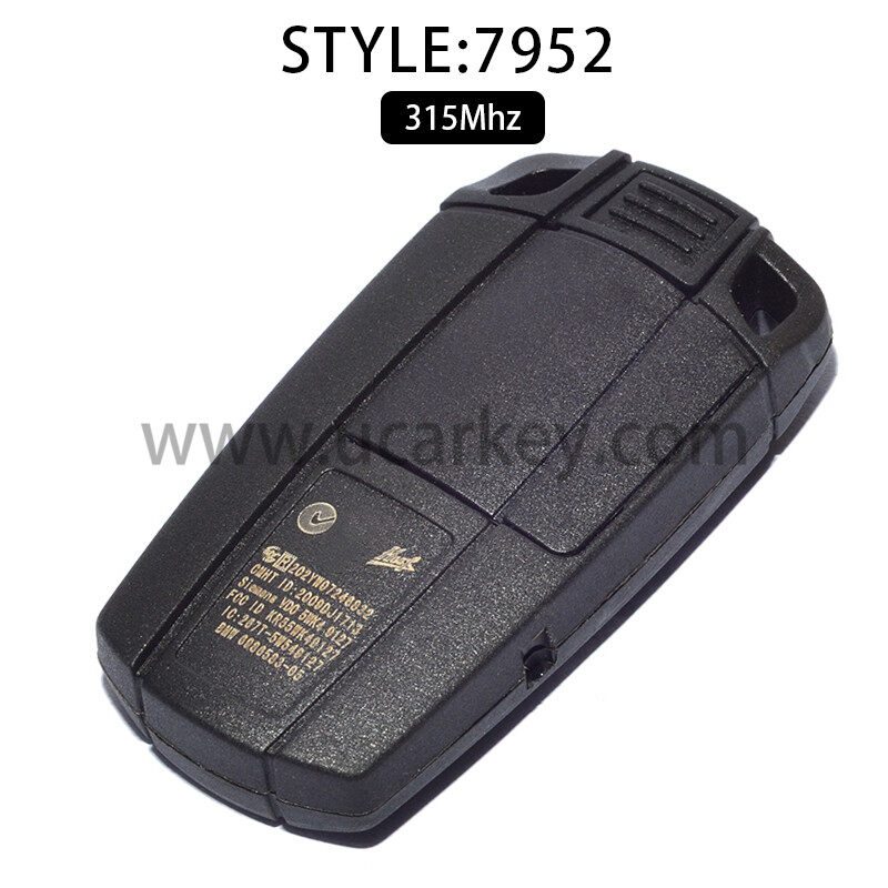 FOR BMW Smart Card Keylss Go 3 5 Series 315MHz ID46(PCF7952) 1
