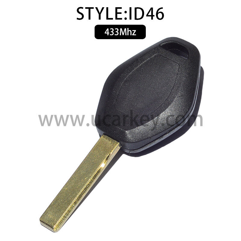 3 Button Straight Remote Car Key For BMW CAS2 433MHZ With 46 Electronic Chip with HU92 Blade (PCF7942) 1