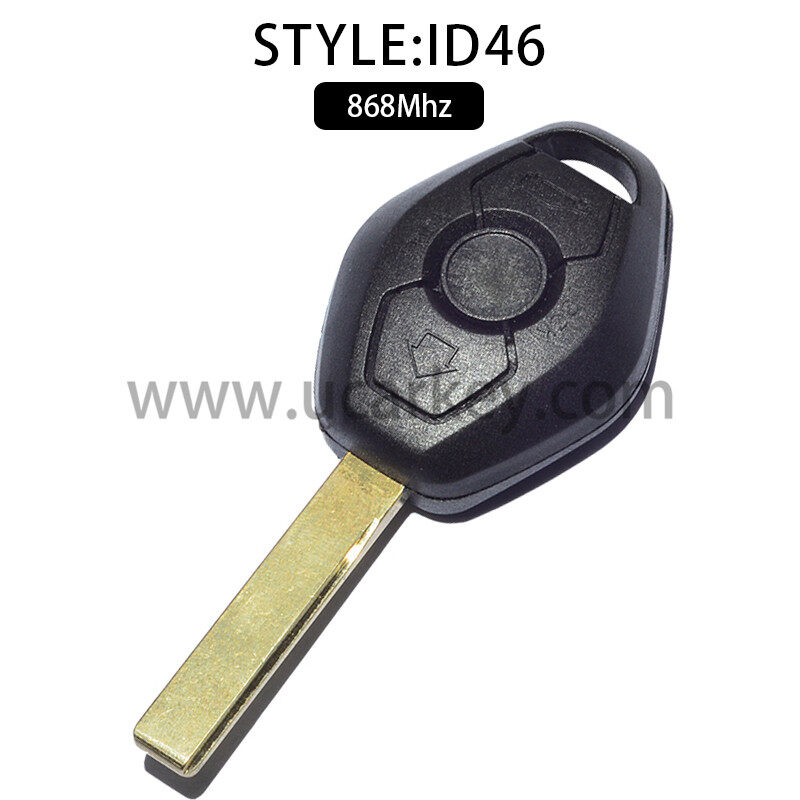 3 Button Straight Remote Car Key For BMW CAS2 868MHZ With 46 Electronic Chip (PCF7942) with HU92 Blade 0