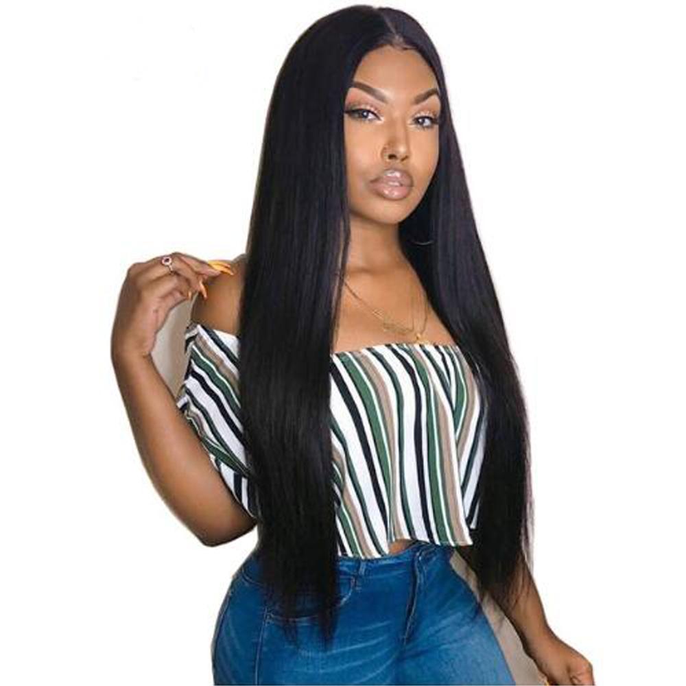 Straight Hair 3 Bundles With Closure Virgin Hair Straight Weave