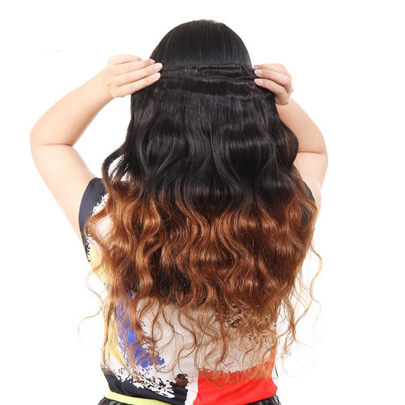 Glamorous Remi Hair Ombre 1b30 Body Wave Hair Bundles Two Tone