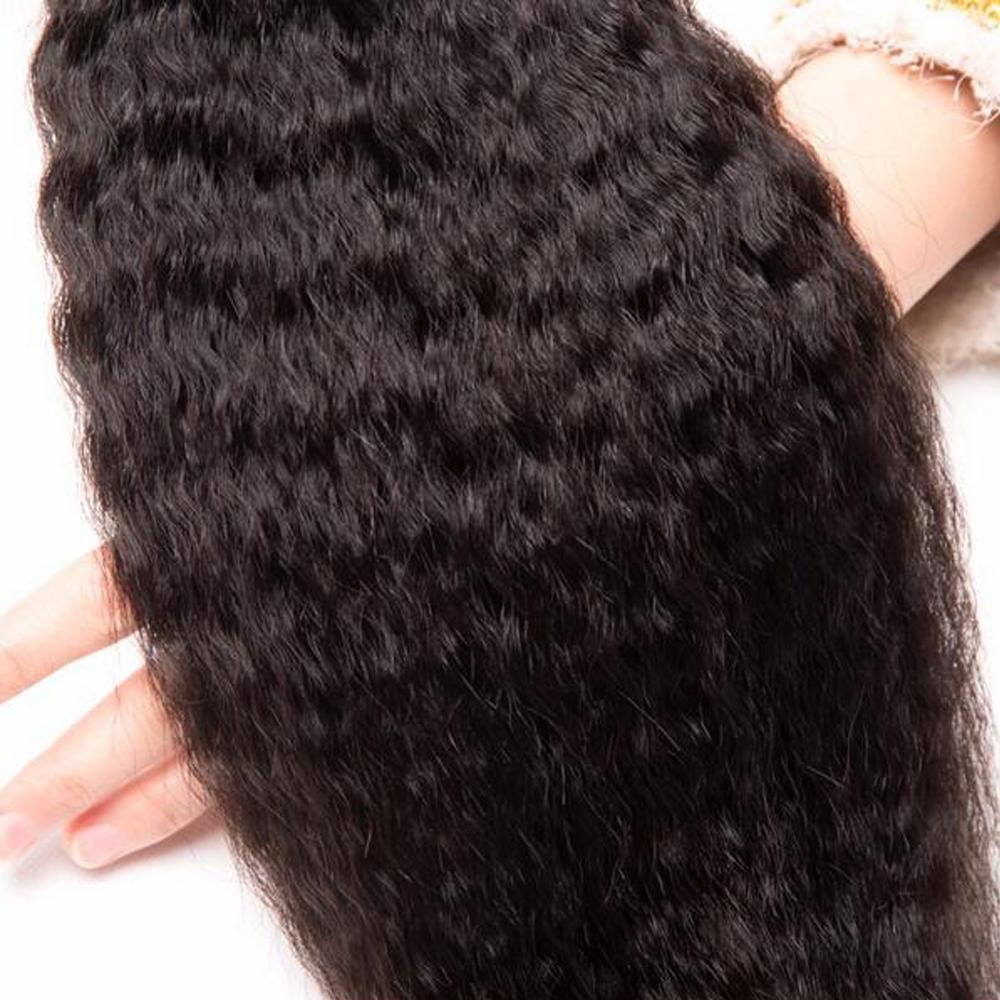 3 Bundles Kinky Straight Hair Weave Bundles Coarse Yaki 100 Human