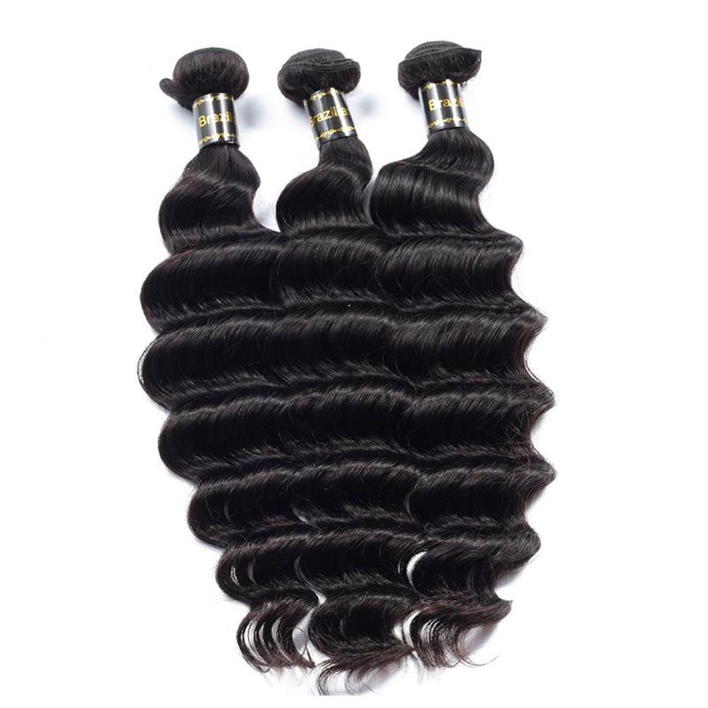 Glamorous Remi Hair 3 Bundles Loose Deep Wave Hair Weave Bundles