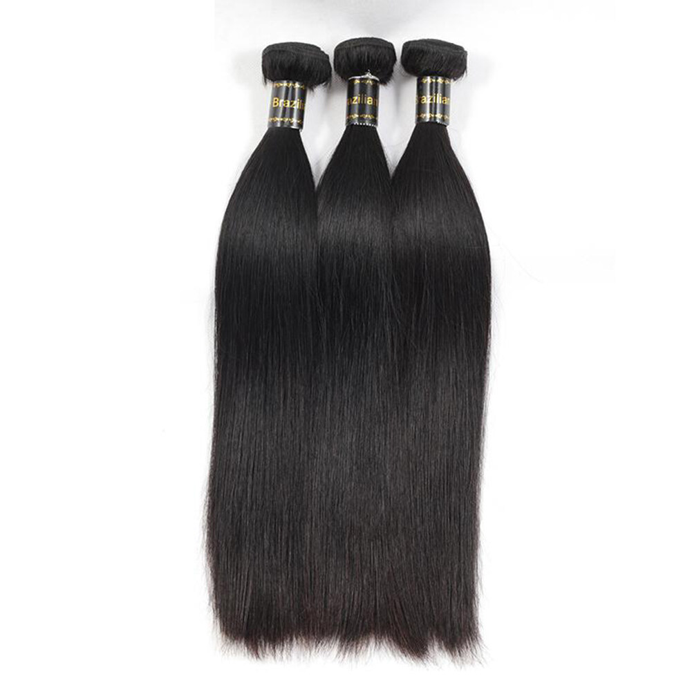 Glamorous Remi Hair 3 Bundles Straight Hair Extensions 100 Virgin