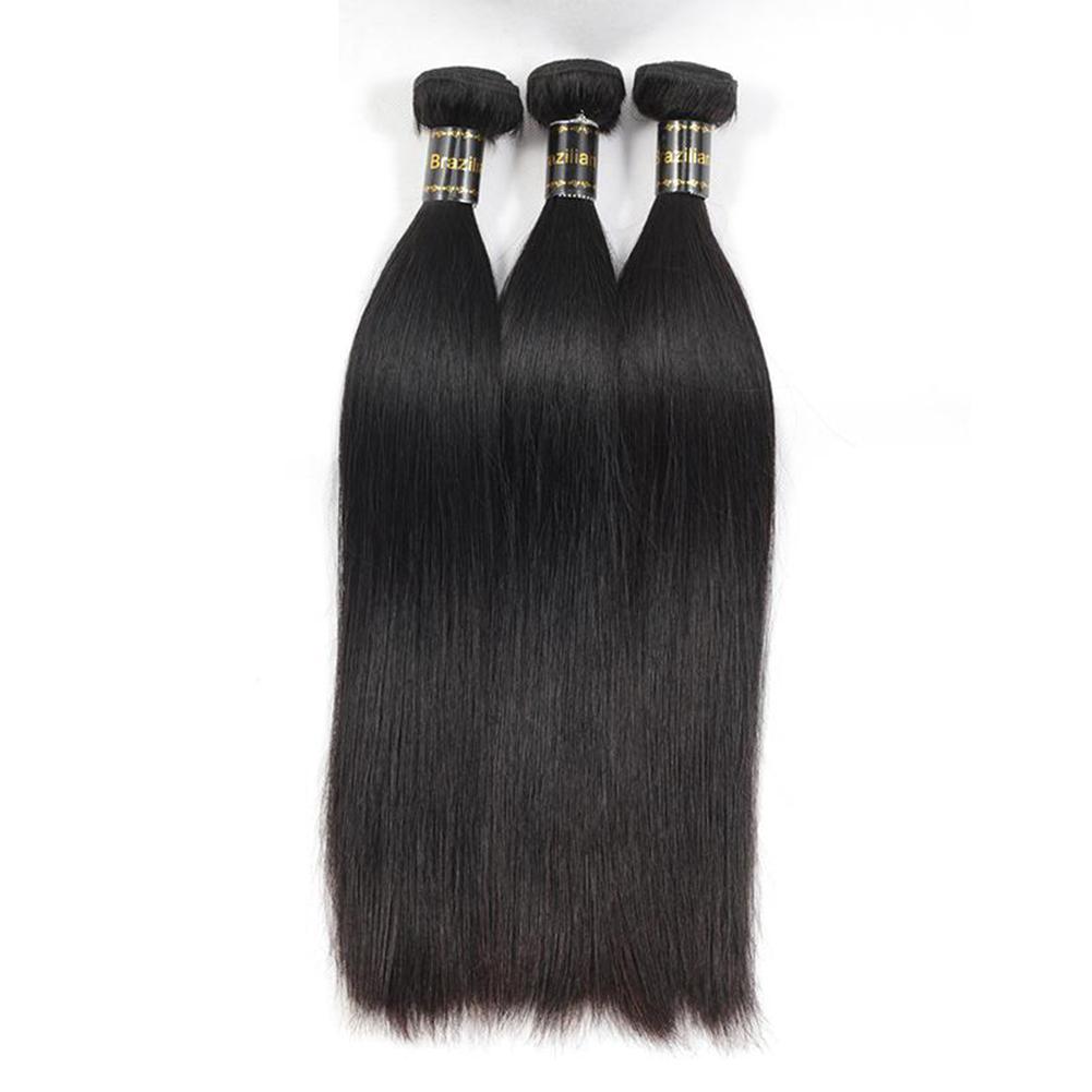 Glamorous Remi Hair 3 Bundles Straight Hair Extensions 100