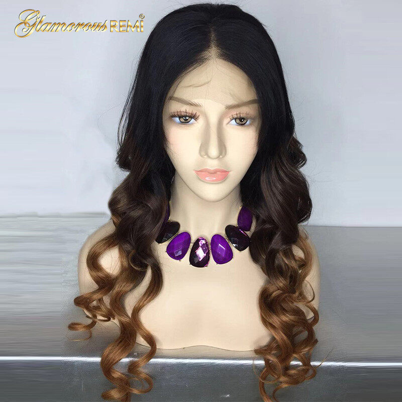 Human Hair Wigs Ombre 1b 4 30 Color Loose Wave Lace