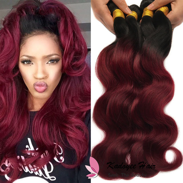 Ombre Virgin Hair Bundles Body Wave Hair Weave 1b99j Two Tone Ombre