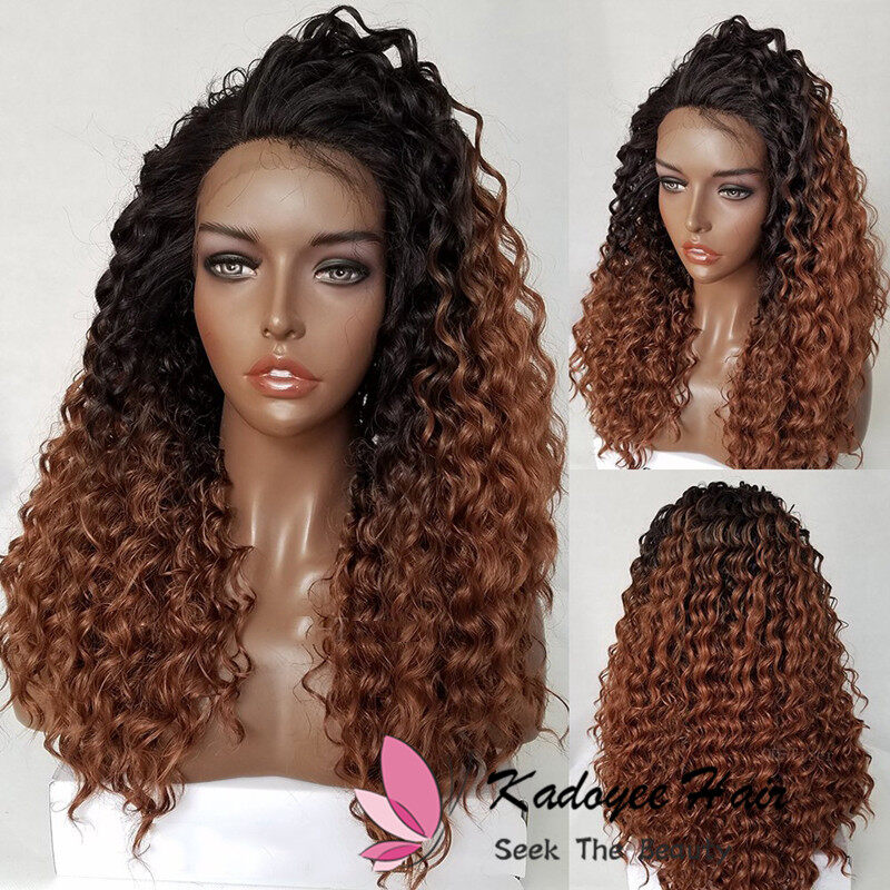 Ombre Human Hair Wigs For Black Women Pre Plucked With Baby Hair 1b