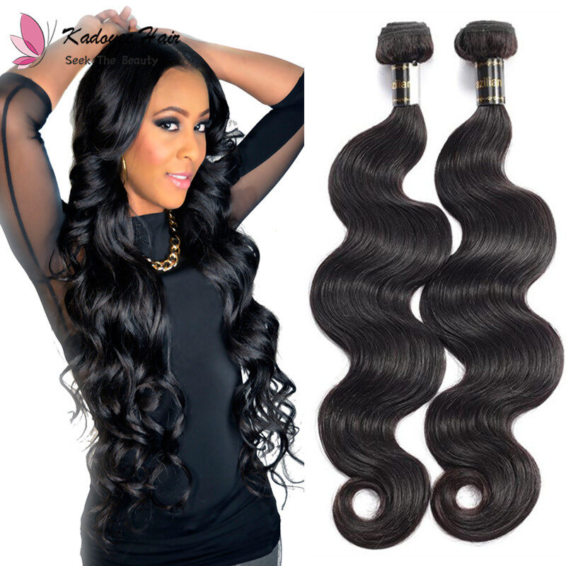 Kadoyeehair Brazilian Body Wave 3 Bundles 100 Remy Human Hair Weave