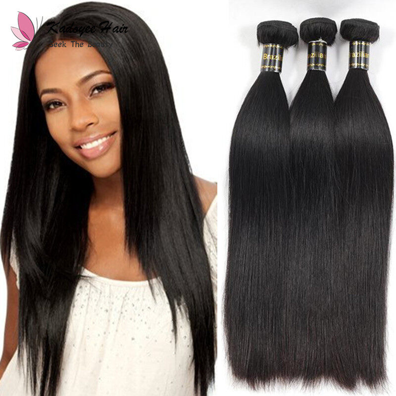 Silky Straight Hair Extensions Brazilian 8 30inch Unprocessed Human
