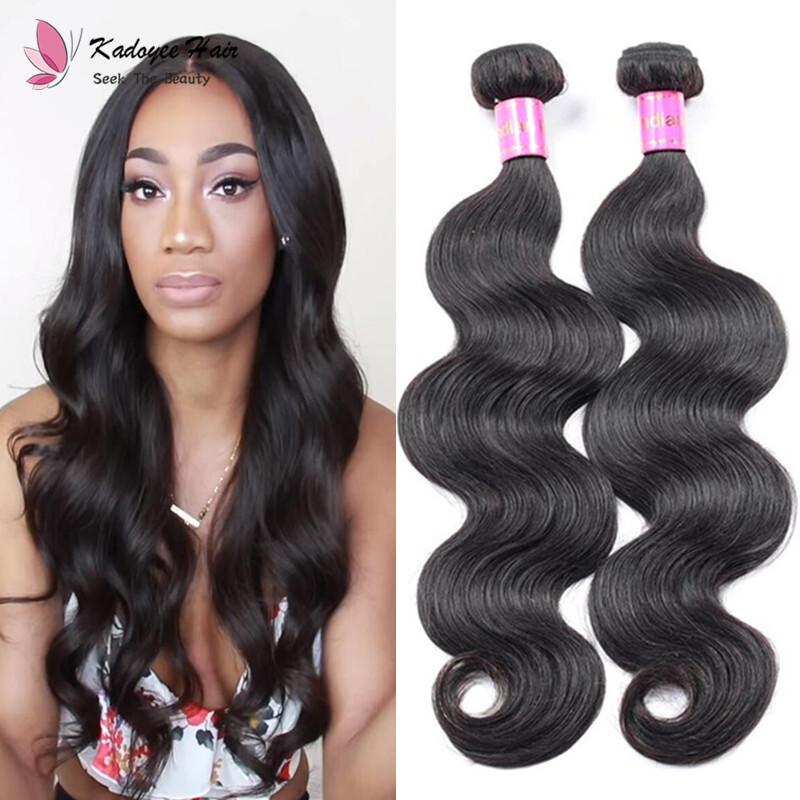 Indian Remy Human Hair Weave Bundles Body Wave 8 26inch Virgin Hair