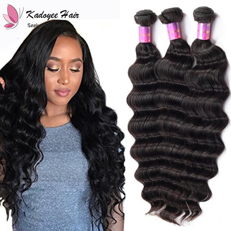 Malaysian Loose Wave Bundles Natural Black Hair Weaving 100 Human